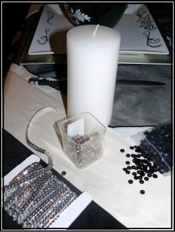 faire des bougies strass trucs et deco. Black Bedroom Furniture Sets. Home Design Ideas