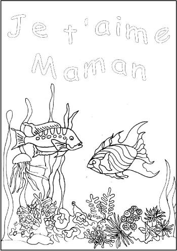 coloriage je t aime maman