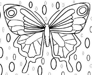 papillon coloriage