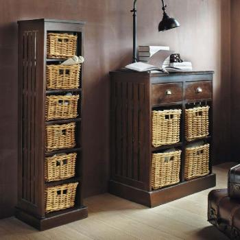 commode avec casier en osier maison du monde pictures. Black Bedroom Furniture Sets. Home Design Ideas