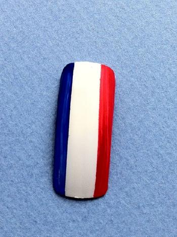 ongle tricolore