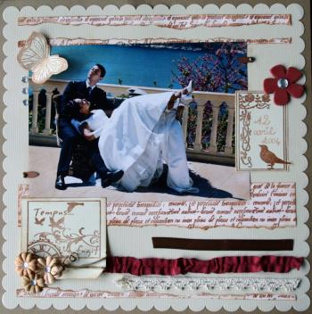 scrapbooking pages mariage