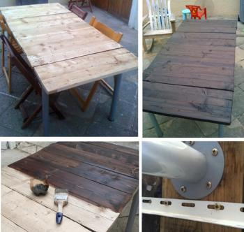 Awesome table de jardin en bois a faire soi meme ideas for Realiser une table de jardin