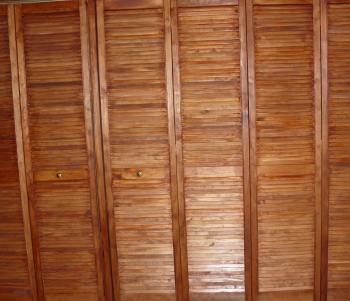 Portes de placards en stores en bois style asiatique for Lapeyre porte accordeon