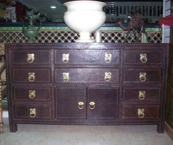commode en cuir